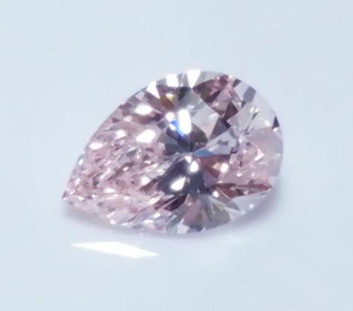 0.20ct Pink Diamond - Natural Loose Light Pink Fancy Color GIA VVS1 Pear Shape
