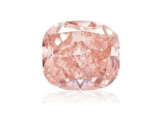 Pink Diamond - 0.31ct Natural Loose Fancy Orangy Pink Color GIA Cushion SI1