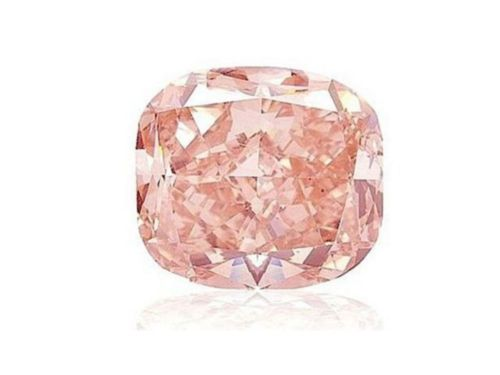 Pink Diamond - 0.31ct Natural Loose Fancy Orangy Pink Color Diamond GIA Cushion