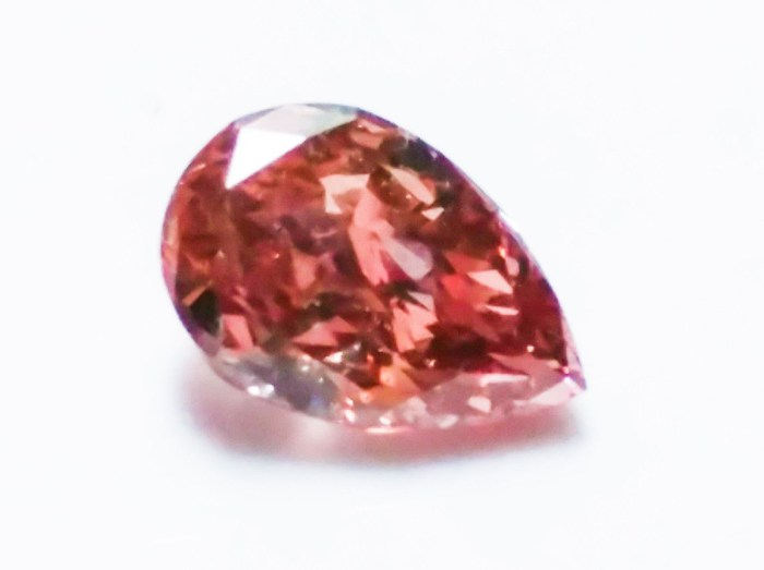 0.22ct Natural Loose Fancy Deep Orangy Pink Color Diamond GIA VS2 Pear Shape