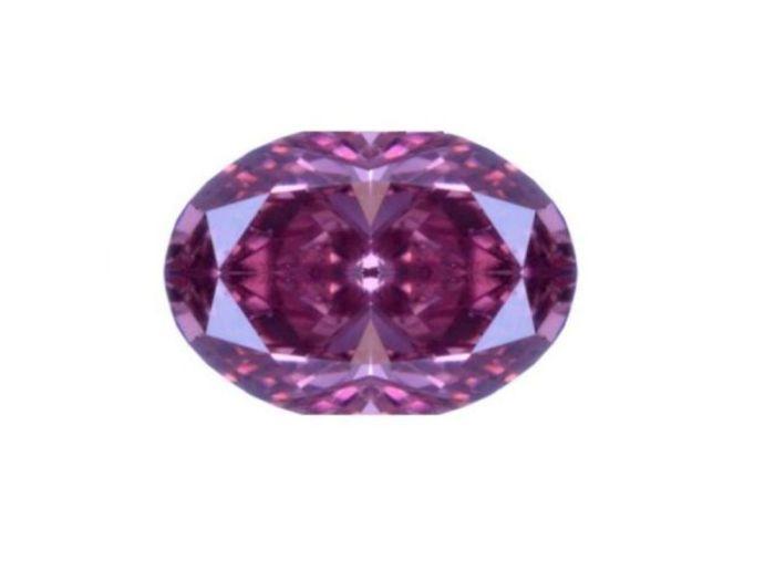 0.09Ct Natural Loose Fancy Intense Pink Purple Diamond GIA Certified Cushion