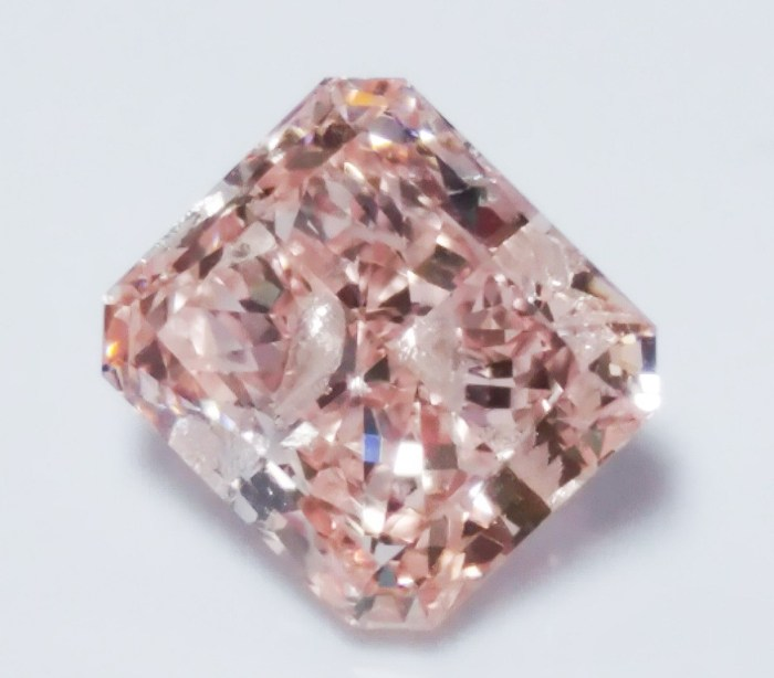 Pink Diamond - 0.78ct Natural Loose Fancy Orangy Pink Color Diamond GIA Radiant