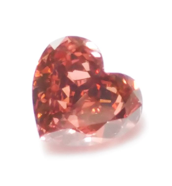 Pink Diamond - 0.26ct Natural Loose Fancy Deep Brown Pink GIA Certed Heart SI1