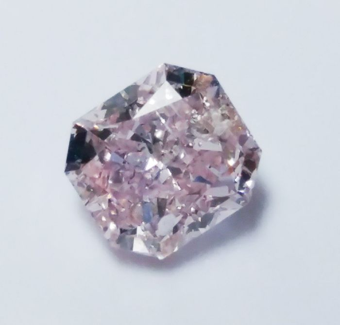 Pink Diamond - 0.51ct Natural Loose Fancy Purple Pink Color Diamond GIA Radiant