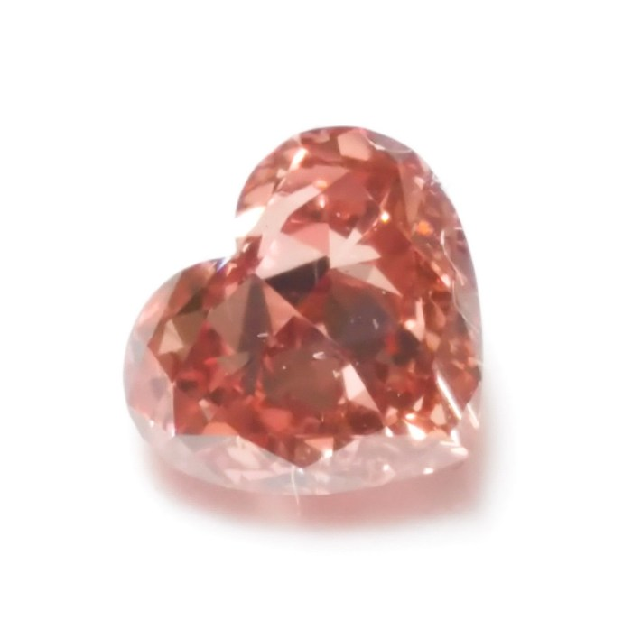 Pink Diamond - 0.46ct Natural Loose Fancy Deep Brown Pink GIA Certed Heart SI2