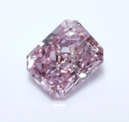0.50ct Natural Loose Fancy Purple Pink Color Diamond GIA Certified Radiant SI2