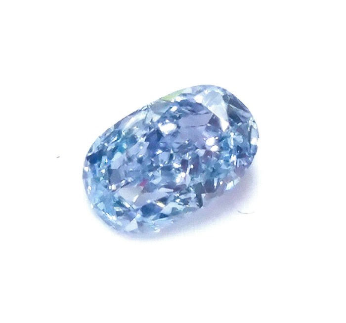 Blue Diamond - 0.16ct Natural Loose Fancy Intense Blue Color GIA Oval Shape VS1