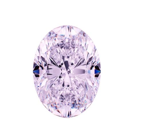 VVS1 0.51ct Pink Diamond - Natural Loose Fancy Faint Pink GIA Certified Oval