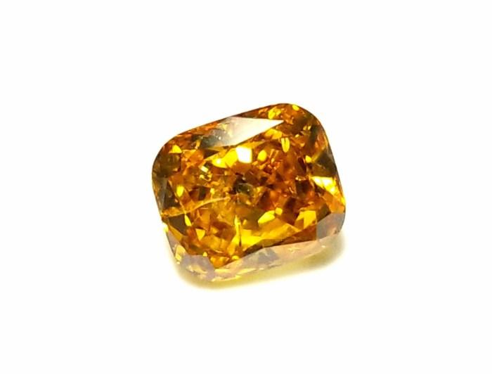 1.02ct Orange Diamond - Natural Loose Fancy Deep Orange Yellow GIA Cushion SI2