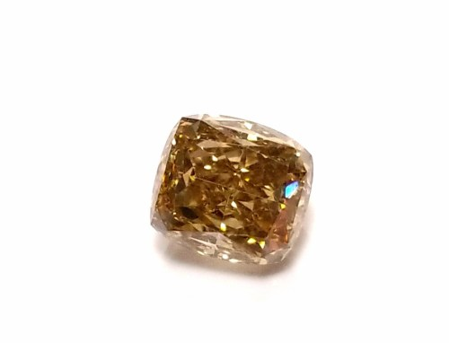 Whiskey 1.02ct Natural Loose Real Fancy Brown Diamond Cushion Cut VVS1 For Ring