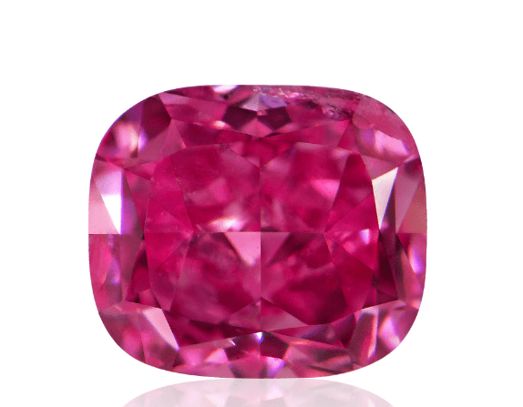 0.22ct Natural Loose Fancy Vivid Pink SI2 Cushion GIA Certified