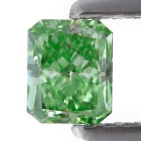 2.34ct Natural Loose Fancy Green VS2 Radiant GIA Certified