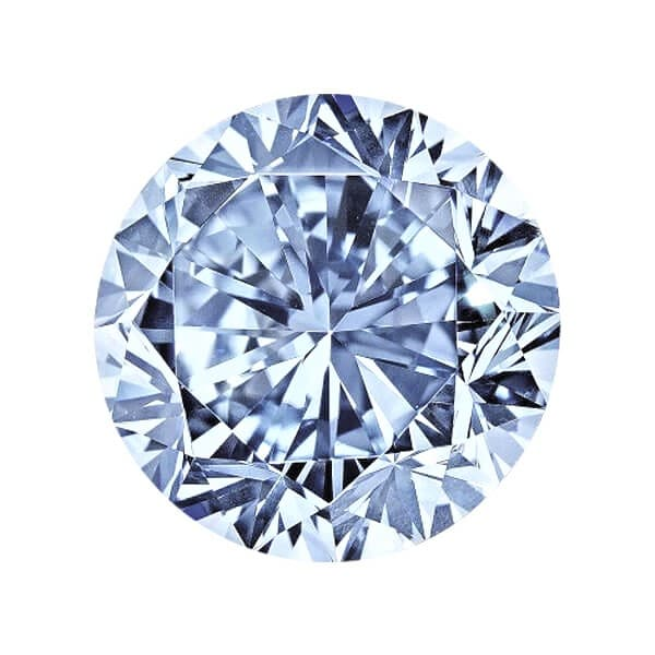 0.38ct Natural Loose Fancy Blue SI2 Round GIA Certified