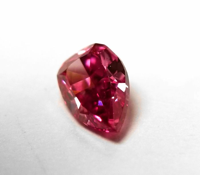 Real 0.25ct Natural Loose Fancy Vivid Purple Pink Color Diamond GIA Pear SI2