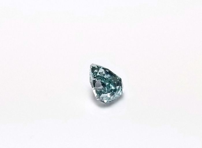 Real 0.22ct Natural Loose Fancy Blue Green Color Diamond GIA SI2 Pear Shape