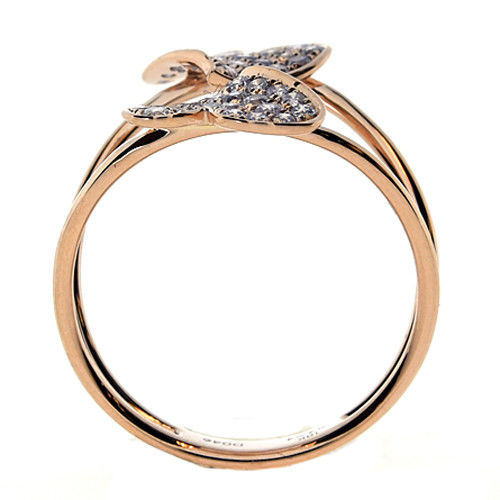 Real 0.50ct Natural Fancy Pink Diamonds Engagement Ring 18K Solid Gold 3G