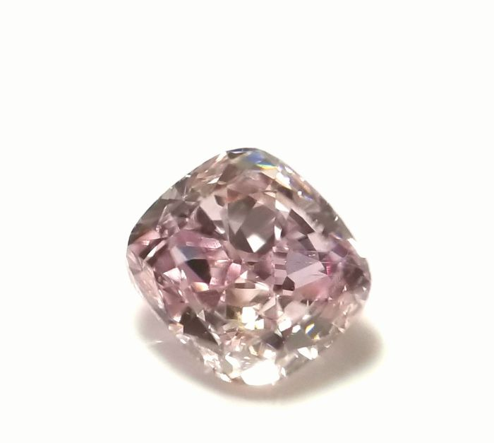 0.37ct Natural Loose Fancy Light Purplish Pink Color Diamond GIA Cushion VS1