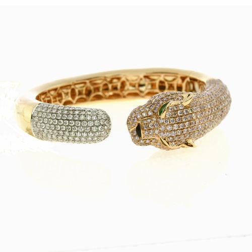 10.50ct Natural Fancy Pink Color Diamonds Bangle Bracelet 18K Solid Gold 55G
