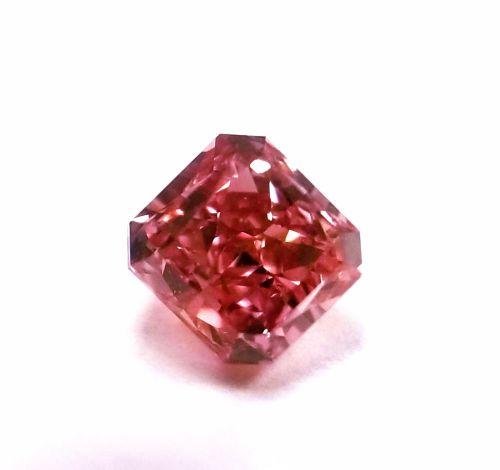Argyle 0.39ct Natural Loose Fancy Intense Pink Radiant Diamond GIA VS2