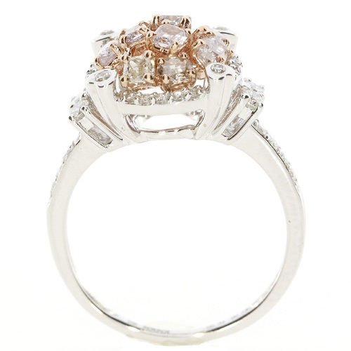 Real 1.20ct Natural Fancy Pink Diamonds Engagement Ring 18K Solid Gold 6G