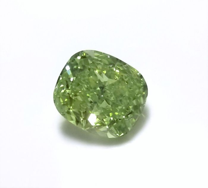 Real 2.00ct Natural Loose Fancy Yellow Green Color Diamond GIA Cushion