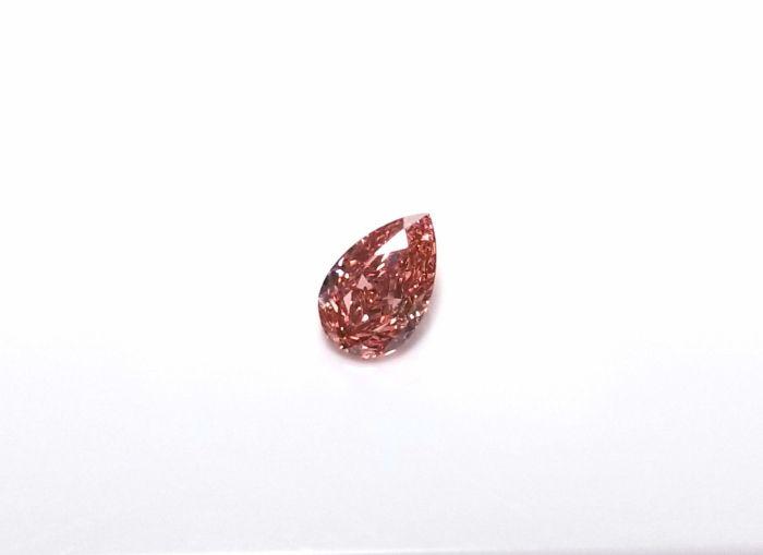 Argyle 0.31ct Natural Loose Fancy Intense Orangy Pink Color Diamond GIA Pear VS1