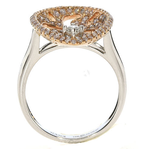 Real 0.92ct Natural Fancy Pink Diamonds Engagement Ring 18K Solid Gold 5G