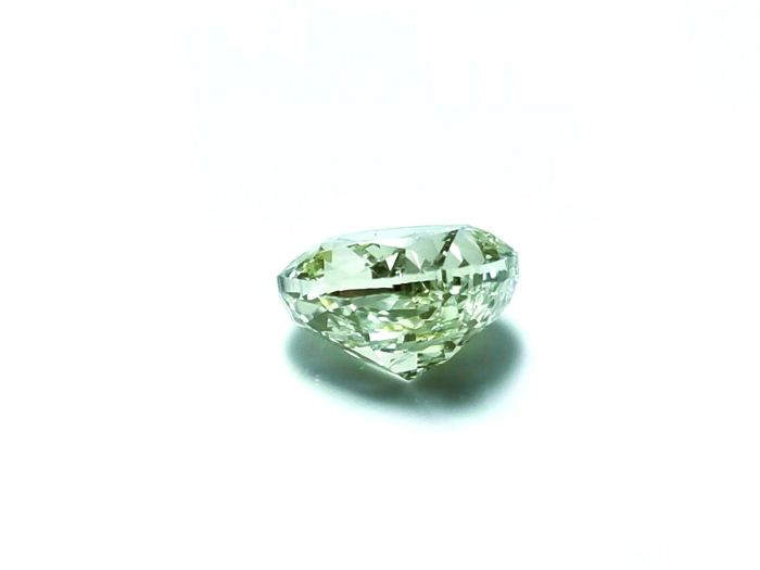 Green Diamond - 1.02ct Natural Loose Fancy Light Green Color GIA Cushion VS1