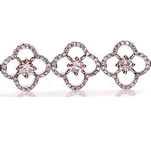 Pink Diamonds - Bracelet 4.21ct Natural Fancy Pink Color 18K 16.5 Grams Flowers