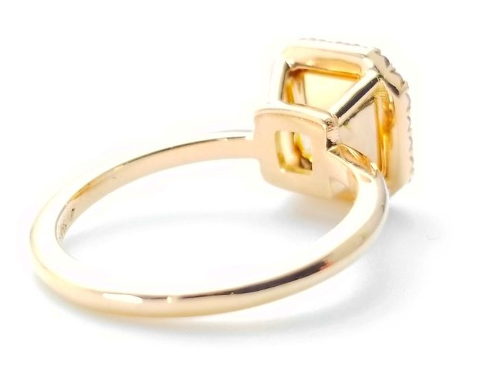 2.25ct Natural Fancy Pink & Light Yellow Engagement Ring GIA Accsher 18K Gold VS