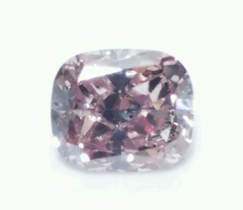 Pink Diamond - 0.24ct Natural Loose Fancy Pink Purple Diamond Cushion Cut SI2