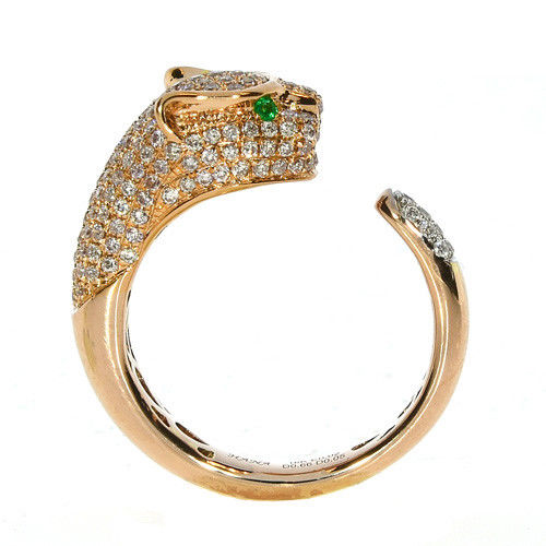 Real 1.00ct Natural Fancy Pink Diamonds Engagement Ring 18K Solid Gold Tiger