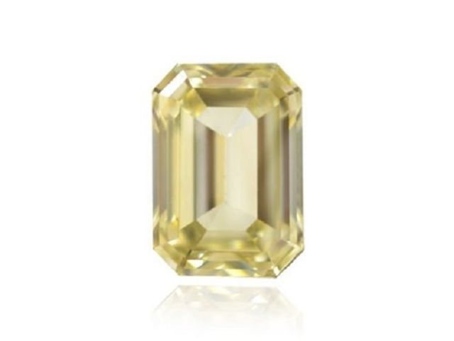 Yellow Diamond - 0.61Ct Natural Loose Fancy Brownish Yellow GIA Emerald Cut VS1
