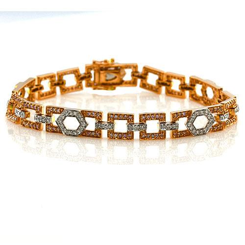 ARGYLE Pink Diamonds - Bracelet 1.64ct Natural Fancy Pink 18K 17 Grams Mix Color