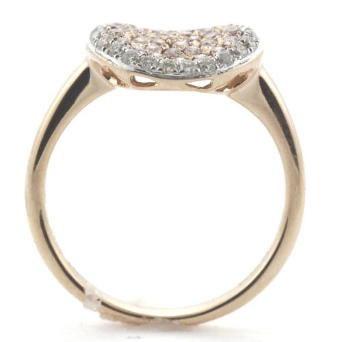 Real 0.78ct Natural Fancy Pink Diamonds Engagement Ring 18K Solid Gold 5G