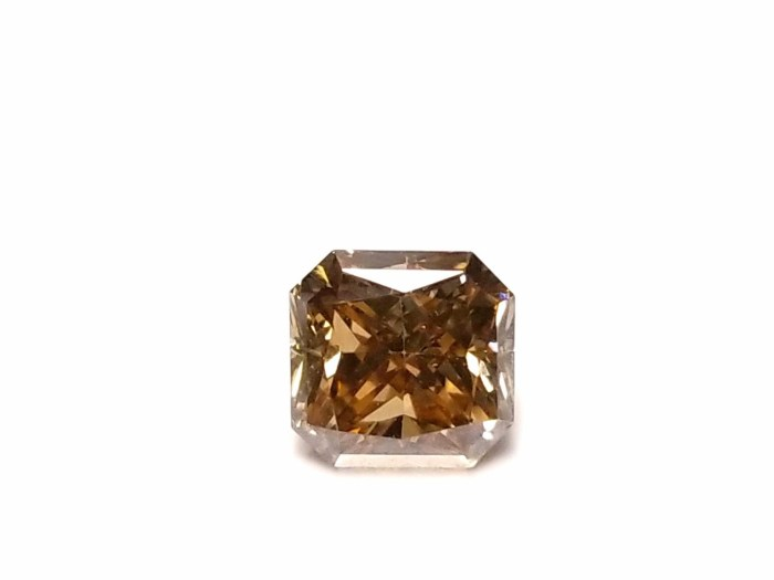 Whiskey 1.03ct Natural Loose Real Fancy Yellow Brown Diamond Radiant Cut SI1 GIA