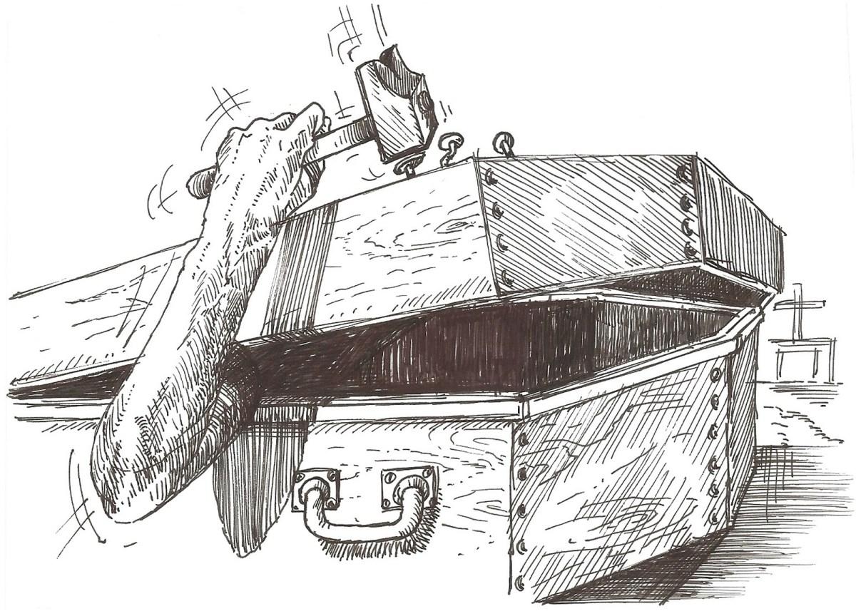 Un cercueil que l'on ferme soi-même