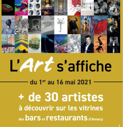 L'Art s'affiche dans les vitrines d'Annecy du 1er au 16 mai