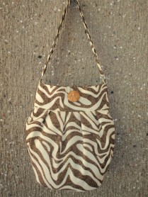 Chocolate zebra style bag