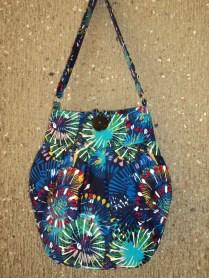 Printed Blue Tote Bag