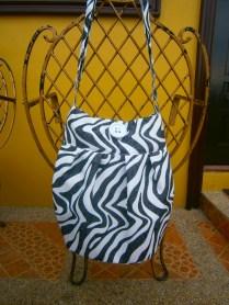 Black and white zebra bag