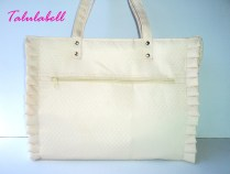 White Ruffle Tote Bag Php. 480.00