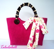Berry Abaca Bag - Fuchsia Product Code BE003 Php. 345.00
