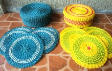 "Abaca Round ContainerDiameter: 9""Php. 155.00Hot Pads - Php. 220.00"