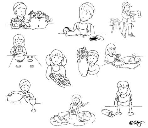 illustrations for children's board game