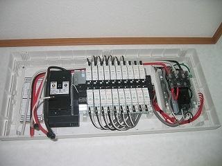 オール電化対応配電盤
