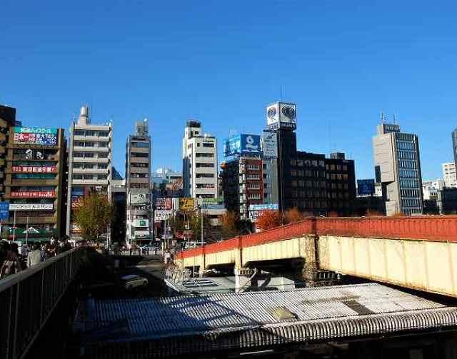 市ヶ谷駅交差点から市ヶ谷見附の眺め