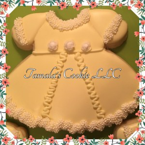 Pretty Yellow Dress Cookie