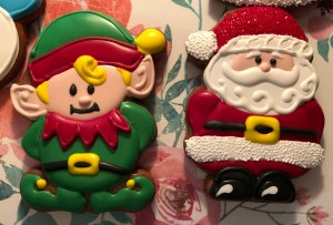 Elf and Santa Christmas Cookies