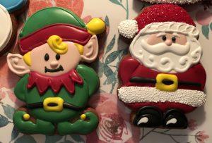 Elf and Santa Christmas Cookies